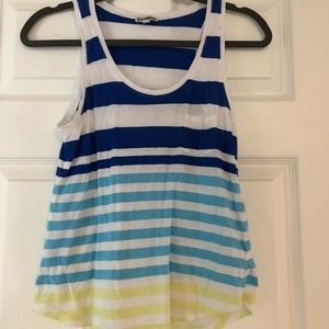 Blue and white Express tank top